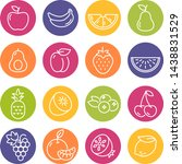 collection of thin line icons... | Shutterstock .eps vector #1438831529