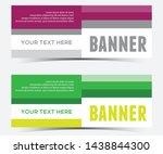 abstract horizontal banner... | Shutterstock .eps vector #1438844300
