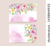 watercolor floral business card.... | Shutterstock . vector #1438844933