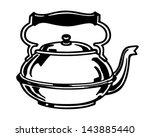 tea kettle   retro clip art... | Shutterstock .eps vector #143885440