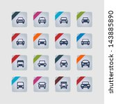 car icons | Shutterstock .eps vector #143885890