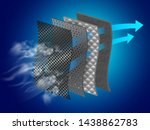 dust filter layer smoke and... | Shutterstock .eps vector #1438862783