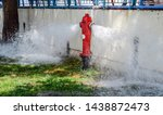 Open Fire Hydrant  Water Flows...