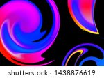 fluid abstract background.... | Shutterstock .eps vector #1438876619