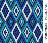 ikat. art seamless pattern.... | Shutterstock .eps vector #1438876733
