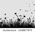 medow with grass flowers and... | Shutterstock .eps vector #1438877879
