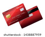 Realistic Red Credit Card...