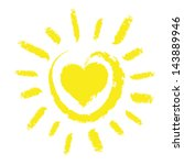 sun with heart | Shutterstock .eps vector #143889946