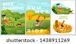 vector summer posters set  ... | Shutterstock .eps vector #1438911269