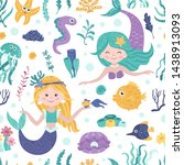 seamless pattern with cute... | Shutterstock .eps vector #1438913093