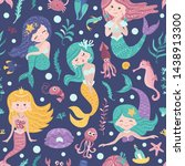 seamless pattern with cute... | Shutterstock .eps vector #1438913300