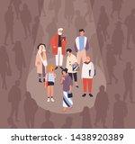 men and women spotlighted or... | Shutterstock .eps vector #1438920389