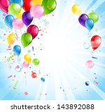 bright holiday background with... | Shutterstock .eps vector #143892088