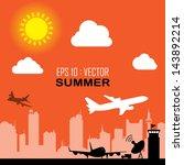 air lane transport | Shutterstock .eps vector #143892214