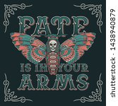 """lettering text quote """"fate is...   Shutterstock .eps vector #1438940879"""
