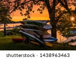A Sunset Photograph Showing The ...