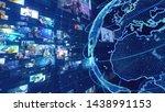 global communication network...   Shutterstock . vector #1438991153
