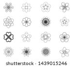set of flat spring flower icons ... | Shutterstock .eps vector #1439015246