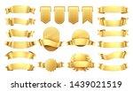 golden ribbons. shiny old... | Shutterstock . vector #1439021519