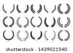 silhouette laurel wreath.... | Shutterstock . vector #1439021540