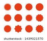 starburst price stickers. star...   Shutterstock . vector #1439021570