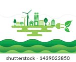 ecology connection electrical... | Shutterstock .eps vector #1439023850
