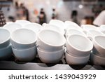 Stack Of Small Ceramic Cups On...