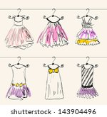 fashionable beautiful clothes... | Shutterstock .eps vector #143904496