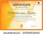 creative modern certificate... | Shutterstock .eps vector #1439052443
