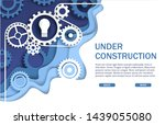 under construction website page ... | Shutterstock .eps vector #1439055080