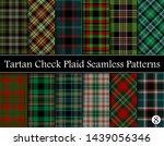 set  tartan plaid scottish... | Shutterstock .eps vector #1439056346