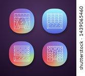 window blinds app icons set....