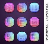 window shutters app icons set....
