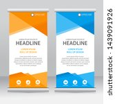 roll up banner stand template... | Shutterstock .eps vector #1439091926