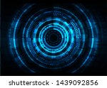 abstract technology background. ... | Shutterstock .eps vector #1439092856