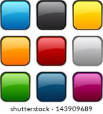 set of blank colorful square... | Shutterstock .eps vector #143909689