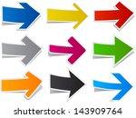 vector illustration of sticky... | Shutterstock .eps vector #143909764
