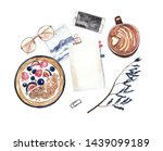 watercolor mockup with space...   Shutterstock . vector #1439099189