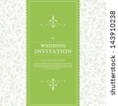 vector wedding card or... | Shutterstock .eps vector #143910238