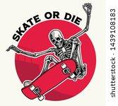 badge design with skull doing... | Shutterstock .eps vector #1439108183