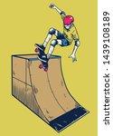 vintage illustration man... | Shutterstock .eps vector #1439108189