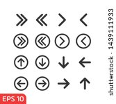arrow icon set symbol template...