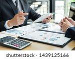 business people talking... | Shutterstock . vector #1439125166