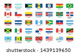 flags of the american continent.... | Shutterstock .eps vector #1439139650