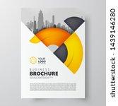 flyer circles orange brochure... | Shutterstock .eps vector #1439146280
