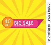 sale banner template design.big ...   Shutterstock .eps vector #1439150030