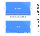 website slideshow template  ... | Shutterstock .eps vector #143922880