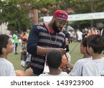 NEW YORK - JUNE 26: Baron Davis attends at The Sixth Steve Nash Foundation Showdown at Sarah D. Roosevelt Park on June 26, 2013 in New York City. - stock photo