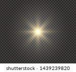 white glowing light explodes on ... | Shutterstock .eps vector #1439239820