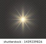 white glowing light explodes on ... | Shutterstock .eps vector #1439239826